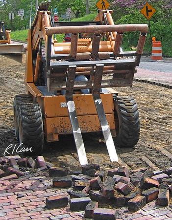 Construction Demolition Slides: grappler, drop hammer, shear,  pavement breaker,  loader