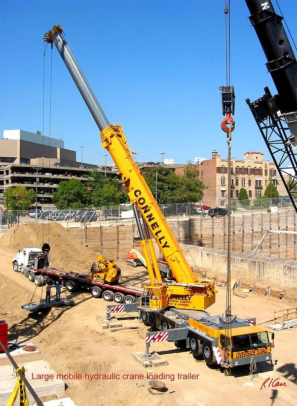 Construction Cranes: hydraulic, cable, mobile, track, wheel, tower