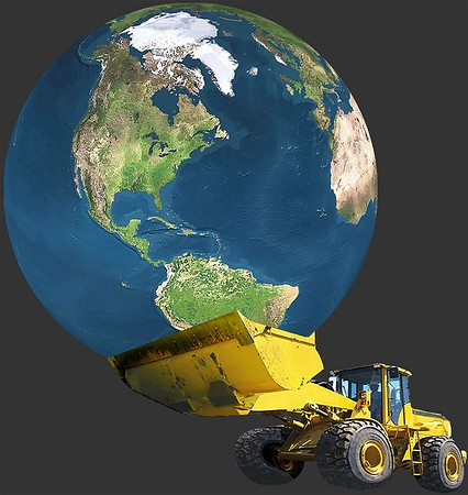 Construction Earth Moving: Cut and Fill: dozers, loaders, scrapers, grader, trucks