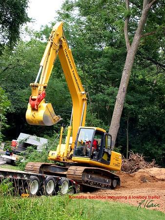 Construction Excavation: Backhoe excavator, loader, trenchers