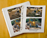 Construction Photo Book : How to make photo album: download/print photos, caption, put in sleeves, and bind together.