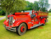 Fire engines, trucks, apparatus, historical: 1936 Seagrave pumper with V12 engine of Woonsockcet Fire Department. Fire apparatus Muster, Riverside Park, Ypsilanti, Michigan August 26, 2006