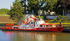 Fire trucks, boats: Fire boat on Rhine River, Frankfurt, Germany July 2006