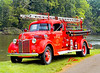 Fire engines, trucks, apparatus, historical: 1939 Ford Bickle 2-ton pickup pumper.Vintage Fire Company, Commerce Township. Fire apparatus Muster, Riverside Park, Ypsilanti, Michigan August 26, 2006